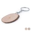 BigBuy Eco Kulcstartó Fa 146186 Kerek