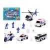 BigBuy Fun Rendőrségi Jármű és Kiegészítő Szett Fehér 119381 (13 Pcs)