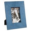 BigBuy Home Fényképtartó Kék Poliészter Kristály (19 x 2 x 24 cm)