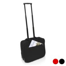 BigBuy Travel 2 Kerekű Bőrönd Laptophoz 143107 Fekete
