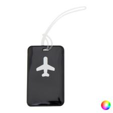 BigBuy Travel Bőrönd Azonosító Címkék Repülőgép 144159 Fekete etikett