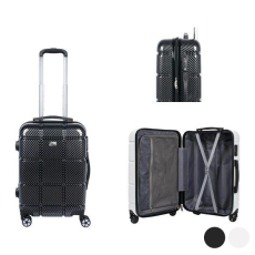 BigBuy Travel Kabin bőrönd Viro (57 x 38 x 23 cm) Fehér