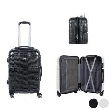 BigBuy Travel Közepes méretű bőrönd Viro (67 x 43 x 27 cm) Fekete