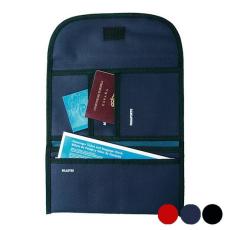BigBuy Travel Tartó úti okmányokhoz Poliészter 300d 148946 Fekete/Tengerészkék