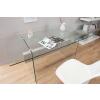 Bighome.hu Písací stôl ONOX 160 cm - priehľadná