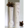 Bighome.hu Váza ART 70 cm - biela