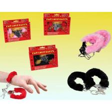 Bilincs plüss borítással (Fekete) bilincs, kötöző