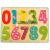 Bino Toys Színes számok fa formaillesztő