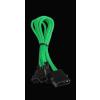 Bitfénix Bitfenix Molex 3x 3-Pin Adapter 12V 20cm - zöld / fekete