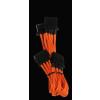 Bitfénix Bitfenix Molex 3x Molex Adapter 55cm - narancssárga / fekete
