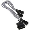 Bitfenix Molex 2/3/4 pin Tápkábel Ezüst 20cm BFA-MSC-M33F12VSK-RP