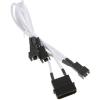 Bitfenix Molex 2/3/4 pin Tápkábel Fehér 20cm BFA-MSC-M33F7VWK-RP