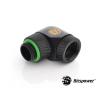 Bitspower Adapter 90 fokos˙G1/4-ről 1/4-re IG .forgatható - Matt fekete