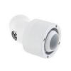 Bitspower Csatlakozó 45° G1/4, 19/13 mm - fehér, forgatható