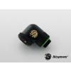 Bitspower Multi-Link Matt Black Enhance Rotary 90° forgatható G1/4