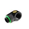 Bitspower Winkel G1/4 - G1/4 - matt fekete, forgatható