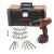 BLACK+DECKER Kompakt akkumulátoros fúrógép 10.8V / 1.5Ah LI, 40 darab tartozék, szerszámos láda 19