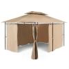 Blumfeldt GRANDEZZA, barna, kerti pavilon, party sátor, 3x4 m, acél, poliészter