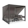 Blumfeldt Havana, pavilon & Lounge-Set, 270x230x270cm, 4 duplaülés, szürke