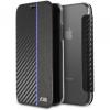 BMW Carbon Book case iPhone X - navy