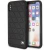 BMW Hexagon Hard bőr tok iPhone X - fekete