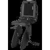 Bobike Classic Junior gyerekülés hátsó vázra 35kg-ig terhel., 5-10 éves korig, fekete, lehajtható