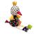 Bobobaby patchwork csörgő plüss játék - Csirke