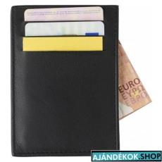 Bőr RFID kártyatartó 3 zsebbel