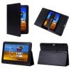 Bőrtok, Samsung Galaxy Tab 7.0 Plus / Tab 2 7.0 mappa tok P6200 - P3100, fekete