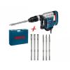 Bosch GSH 5CE vésőkalapács + 3 db lapos és 3 db hegyes véső +koffer