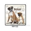 Boxer kutyás hűtőmágnes