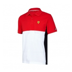 Branded Scuderia Ferrari pánské polo Póló Cut and Sew red F1 Team 2017 - L