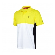 Branded Scuderia Ferrari pánské polo Póló Cut and Sew yellow F1 Team 2017 - XL