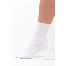 Brigona Komfort gumi nélküli zokni - fehér 45-46