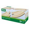 BRIO 33337 - Rövid kanyar sín 4 darabos