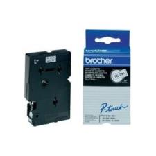 Brother TC-291, 9mm x 7,7m, fekete nyomtatás / fehér alapon, eredeti szalag nyomtató kellék