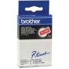 Brother TC-495, 9mm x 7,7m, fehér nyomtatás / piros alapon, eredeti szalag