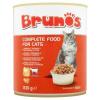 Brunos teljes értékű állateledel felnőtt macskáknak falatok baromfival és marhával szószban 830 g