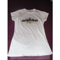 Budapest - Parlament fehér póló L méret- női