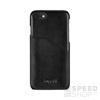 BUGATTI Londra Apple iPhone 8 Plus/7 Plus valódi bőr hátlap tok kártyatartóval, fekete