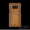 BUGATTI Londra Samsung G950 Galaxy S8 valódi bőr hátlap tok kártyatartóval, homok