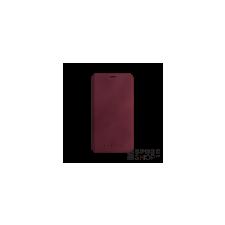 BUGATTI Parigi Apple iPhone X valódi bőr flip tok kártyatartóval, piros tok és táska
