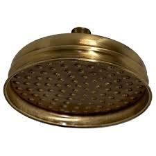 Bugnatese Old zuhanyfej 20 cm átmérővel bronz 19116BR kád, zuhanykabin