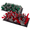 bunnyNature bunnyInteractive Snufflemat Felt - Grey-Green (15 x 28 cm) 120g