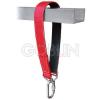 Cado® Hevederszalag, 45 cm hosszú, gumi belsõvel, csavarmenetes AZ011 karabinerrel