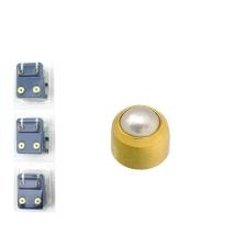 CAFLON Fülbevaló Belőhető 4mm - Arany Kerek - Pearl Cabachon 1pár fülbevaló