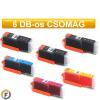 Canon nyomtatóhoz PGI550 - CLI551 chipes utángyártott tintapatron csomag, 6 darabos (pgi-550 cli-551)