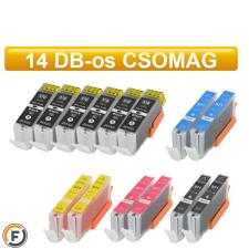 Canon nyomtatóhoz PGI570 - CLI571 chipes utángyártott tintapatron csomag, 14 darabos (pgi-570 cli-571) nyomtatópatron & toner