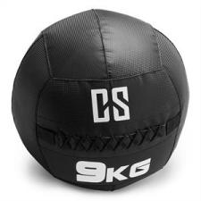 Capital Sports CAPITAL SPORTS Bravor Wall Ball medicinlabda, PVC, dupla varrások, 9kg, fekete medicinlabda
