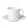 Cappuccino csésze és csészealj, fehér